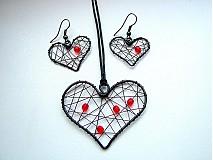 Sady šperkov - súprava srdiečková - 3812616_