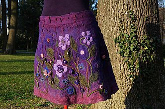 Sukne - Fialová-modro-ružová suknička BEA - 3813906_