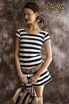 Šaty - Letné bielo modré Pásikošaty - 3814924_