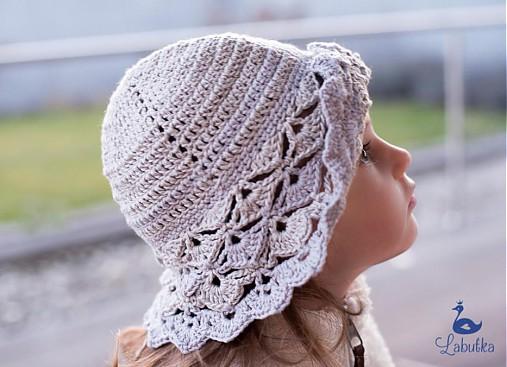 4094c14e5 Dievčenský klobúk s ľanom / Labutka - SAShE.sk - Handmade Detské čiapky
