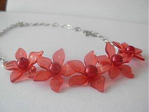 Náhrdelníky - Lotosové kvety - náhrdelník - 3816845_
