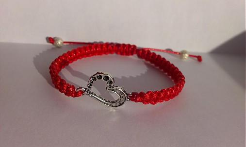 Shamballa náramok červený so srdcom   Janka93 - SAShE.sk - Handmade ... 1dc292edc32