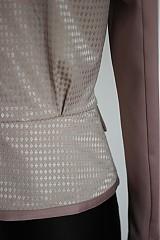 Kabáty - Sakový kabátik v púdrovej farbe  SKLADOm - 3820578_