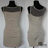 Šaty - Elastické nazbierané šaty s tylom SKLADOM - 3820617_