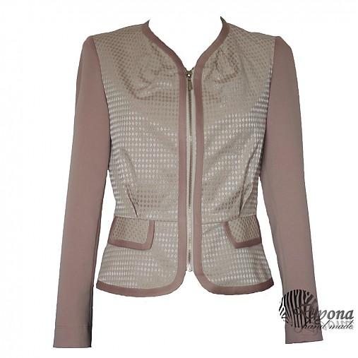 Sakový kabátik v púdrovej farbe  SKLADOm