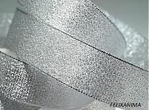 Galantéria - Stuha s lurexom 25 mm - 3821687_