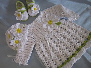 Detské oblečenie - komplektik margaretka - 3819420_
