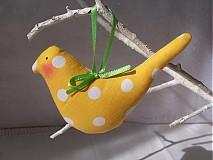 Dekorácie - Vtáčik Letáčik - 3826525_