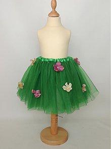 Detské oblečenie - Zelená tutu s hortenziami - 3825122_