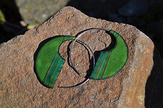 Náušnice - etno zelené - 3825331_