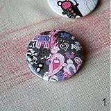 Odznaky/Brošne - Doodle buttony (37mm) - 3827890_