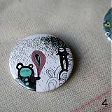 Odznaky/Brošne - Doodle buttony (37mm) - 3827893_