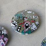 Odznaky/Brošne - Doodle buttony (37mm) - 3827894_