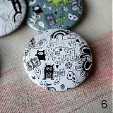 Odznaky/Brošne - Doodle buttony (37mm) - 3827895_