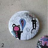 Odznaky/Brošne - Doodle buttony (37mm) - 3827896_