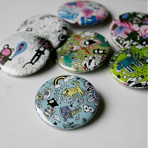 Doodle buttony (37mm)
