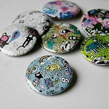 Odznaky/Brošne - Doodle buttony (37mm) - 3827888_