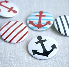 Odznaky/Brošne - Námornícke buttony (37mm) - 3827984_