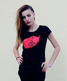 Tričká - Dievča s líškou (krátke tričko) - 3828135_