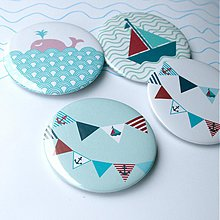 Odznaky/Brošne - Námornícke buttony (58mm) - 3829247_
