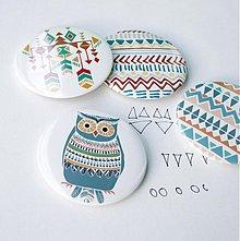 Odznaky/Brošne - Navajo sovia séria (58mm) - 3829301_