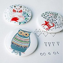 Zrkadielka - Zrkadielko do kabelky (všetky Navajo motívy) - 3829341_