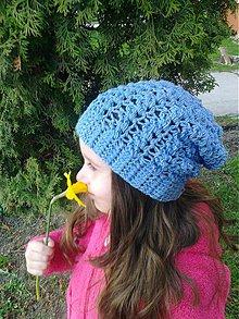 Detské čiapky - Detská homeleska... Light Jeans - 3827264_