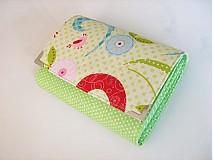 Peňaženky - Love BirdsGreen-menší ale prostorná až na 12 karet - 3830586_