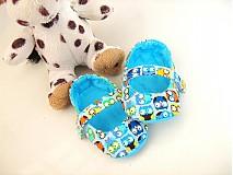 Topánočky - Veselé sovičky - roztomilé capáčky pro nejmenší - 3830620_