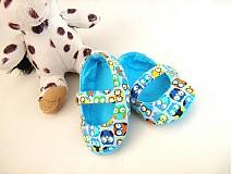 Topánočky - Veselé sovičky - roztomilé capáčky pro nejmenší - 3830622_