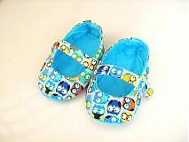 Topánočky - Veselé sovičky - roztomilé capáčky pro nejmenší - 3830623_