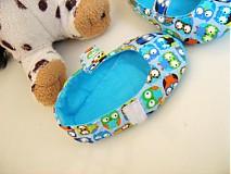 Topánočky - Veselé sovičky - roztomilé capáčky pro nejmenší - 3830624_
