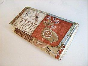 Peňaženky - Motýlí tanečky ptačí snění -velká na spoustu karet - 3830604_