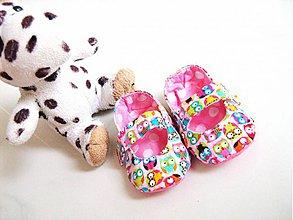 Topánočky - Veselé sovičky - roztomilé capáčky pro nejmenší - 3830617_