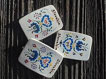 Magnetky - darček zo Slovenska s ľudovým ornamentom II. - 3829351_