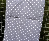 Textil - Šedá s bodečkami - vzor 46 - 3833137_