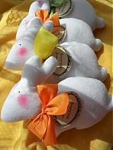 Dekorácie - Zajačik pozorovateľ biely. - 3831511_