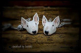 Kľúčenky - Kľúčenka s hlavou psa - podľa fotografie -  a menom - 3833092_