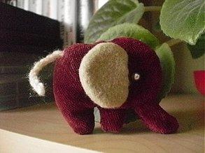 Hračky - Bordový sloník - 3831363_