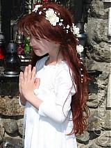 Ozdoby do vlasov - Emmkin sviatočný venček, typ 52 ivory - 3834828_