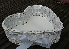 Dekorácie - Láska nebeská (biela s lurexom) - 3835019_