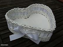 Dekorácie - Láska nebeská (biela s lurexom) - 3835020_