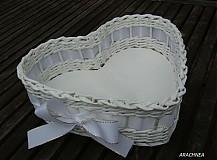 Dekorácie - Láska nebeská (biela s lurexom) - 3835021_