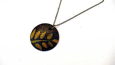 Náhrdelníky - Zlatá papraď - 3837289_