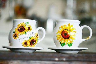 Nádoby - Šálky na čaj slnečnice - 2ks - 3834696_