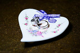 Prstene - Podnos na obrúčky - vtáčiky - 3837689_