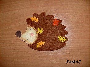 Galantéria - hnedý ježko - 3838908_