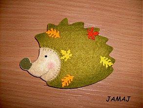 Galantéria - zelený ježko - 3838917_