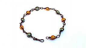 Náramky - Zamotané perličky - 3840771_
