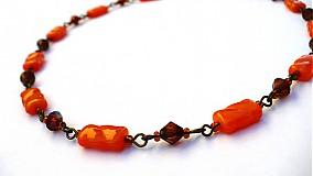 Náhrdelníky - Oranžová či hnedá? - 3841035_